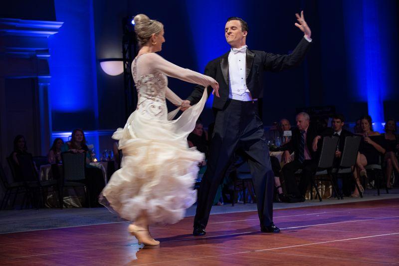 Celebrity dancer Connie Nelson and her partner Justin Bourdet  