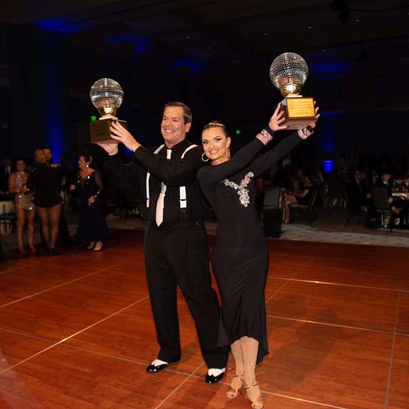 Eddie Buxton and Galina Maiduc were crowned this year's Lowcountry Dancing with the Stars Champions.