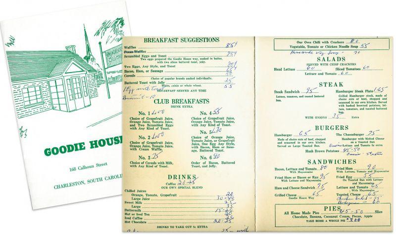 The Goodie House menu