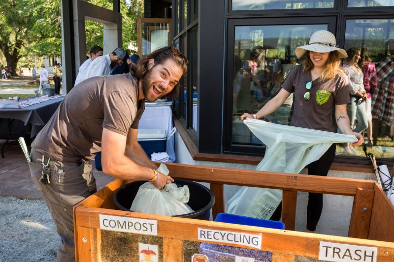 Nathan Burnell and Sarah Roza of Compost Rangers