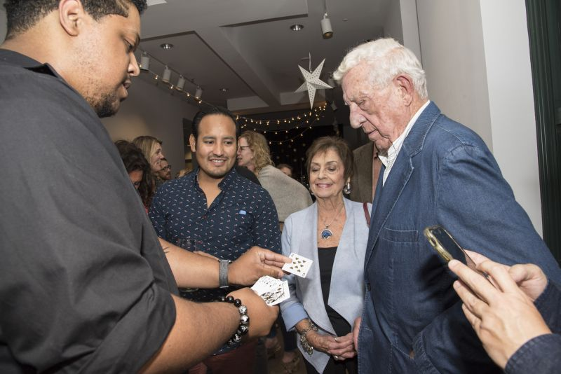 A magician was on hand to dazzle guests with slight-of-hand tricks.