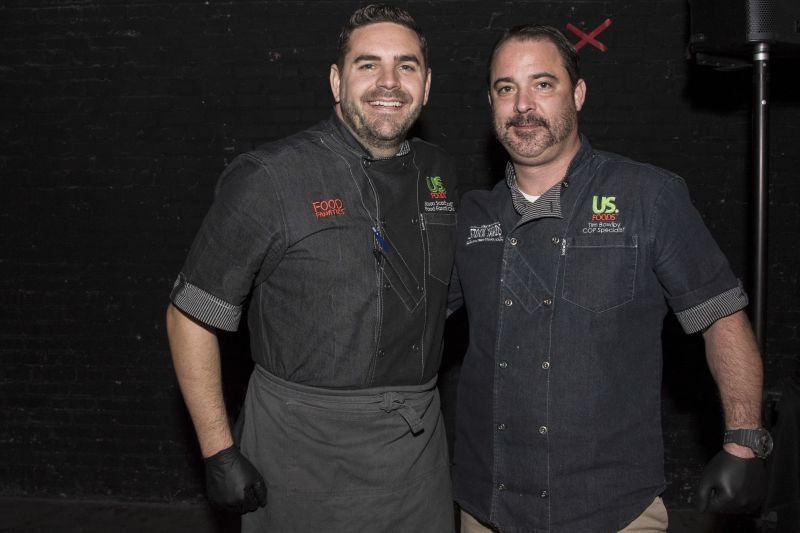 US Foods Chef Jason Scarborough and COP Specialist Tim Bowlby