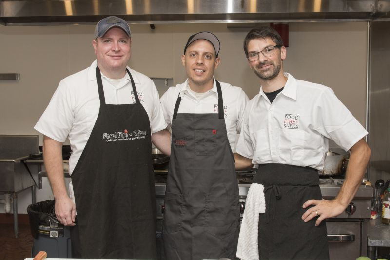 Food, Fire & Knives Chefs Drew McGarity, Michael Casciello, and Alessandro Pepe
