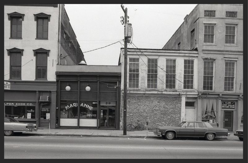 """Marianne at 219 Meeting Street in the late '70s; it was the beginning if the city's European culinary """"revolution."""""""