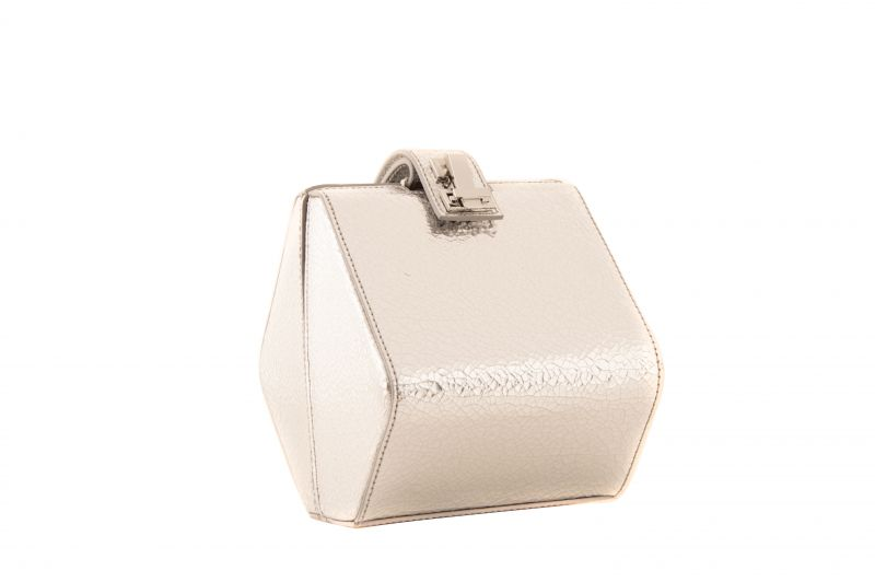 """The Volon """"Diamond Bag"""" in silver, $895 at Hampden"""