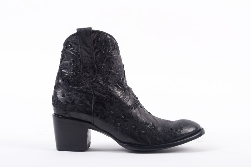 """Sozey Zipper"" boot with crystals, $580 at Out of Hand"