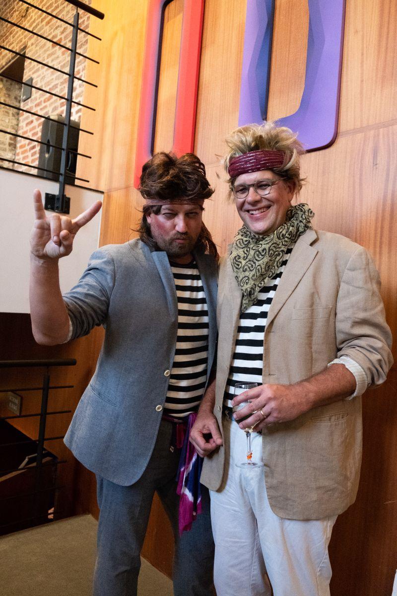 Nick Rhodes and John Taylor as members of Duran Duran