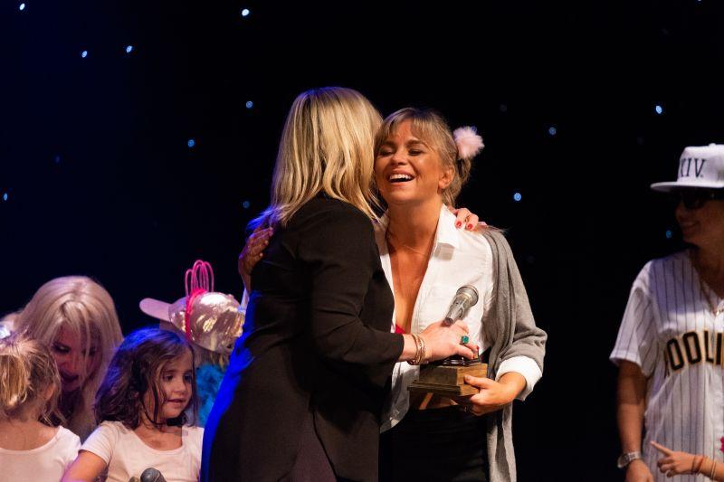 """Lauren Fox receievs her award for """"Bravest Routine"""""""