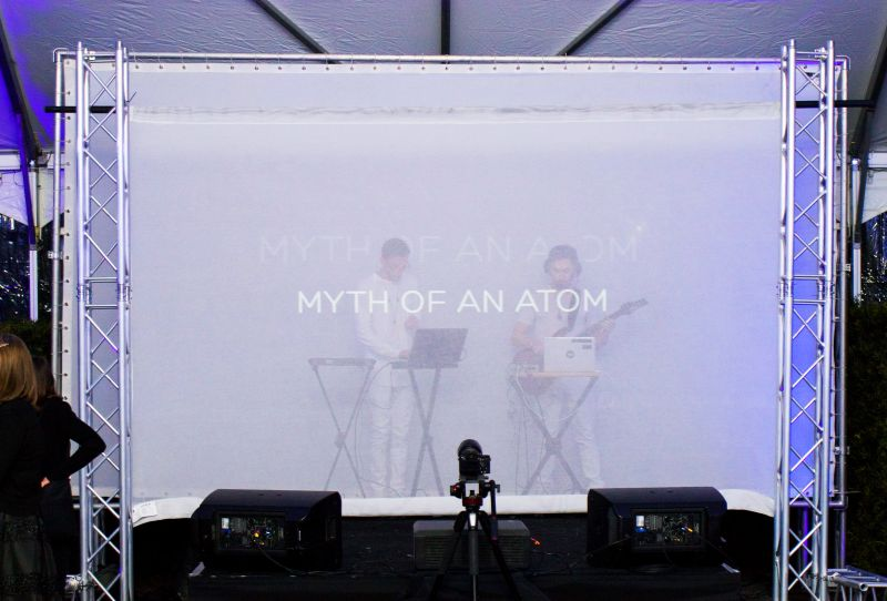 Myth of an Atom provided the evening's abstract entertainment.