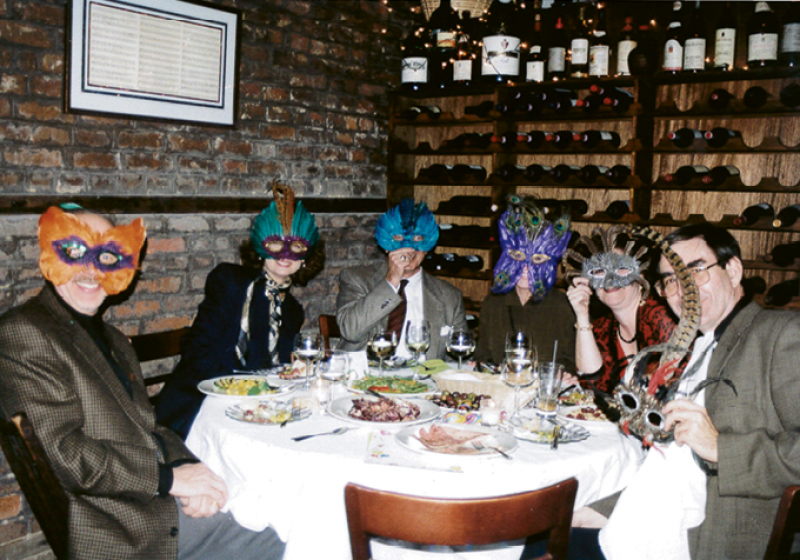 Patrons always had a ball, especially during Carnevale-themed dinners.