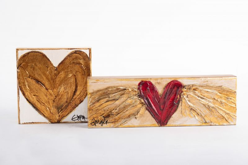 """Ginger Leigh Designs """"Pure Heart"""" gold-medium square, $46 at Out of Hand"""