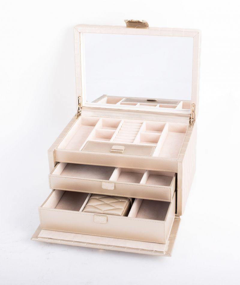 """Wolf Designs """"Caroline"""" box in ivory, $279 at Gwynn's of Mount Pleasant"""