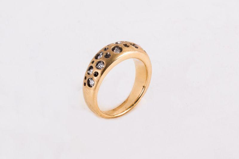 Sandler's Collection 18k gold diamond ring, $2,199 at Sandler's Diamonds & Time
