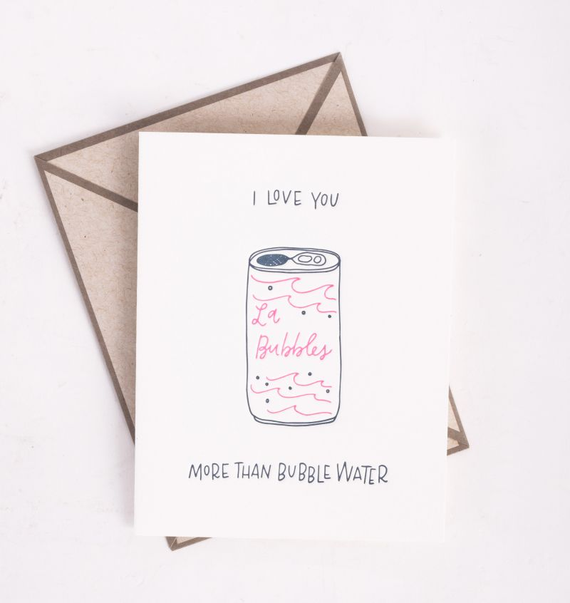"""Ink Meets Paper """"Bubble Water"""" card, $5 at Abide-A-While"""