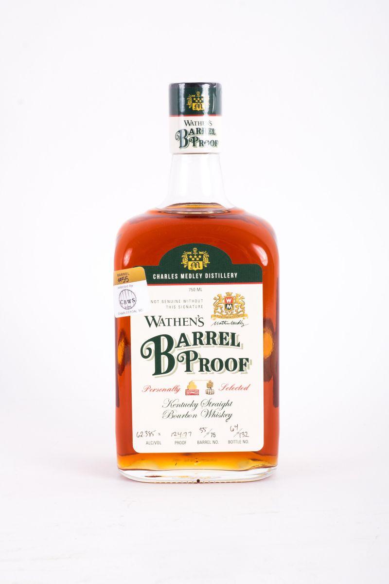 "Wathen's ""Barrel Proof"" Kentucky straight bourbon whiskey, $80 at Bottles Mount Pleasant"