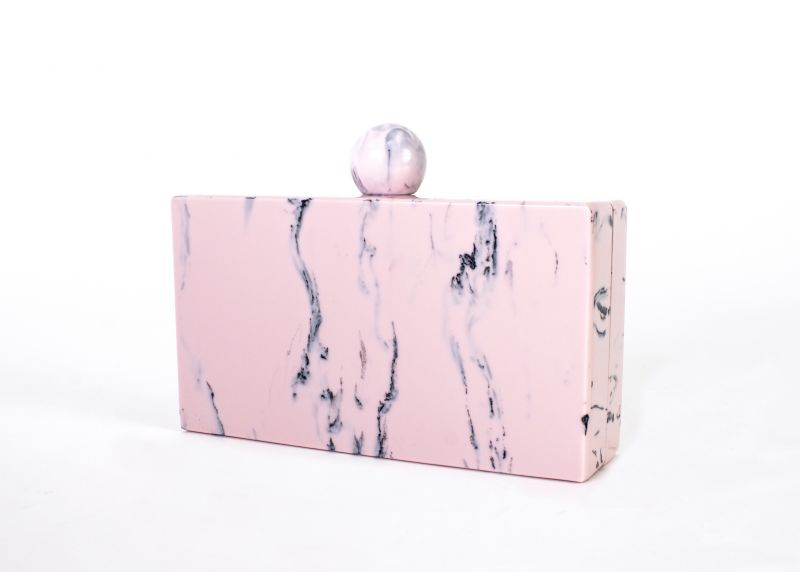 "Dream Control ""Marble Square"" clutch in ""blush,"" $68 at Tres Carmen"