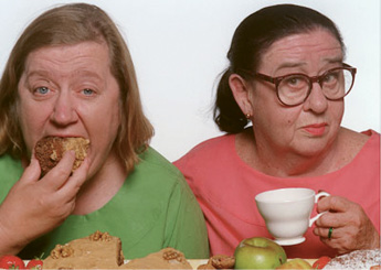 """Screen Time:  """"When I'm feeling under the weather, I'll binge-watch the British cooking show Two Fat Ladies."""""""